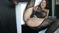 I cum so much with my new toy sex video